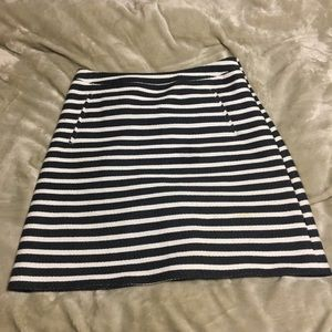 Halogen size 2 pencil skirt black cream stripe